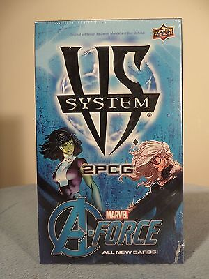 VS SYSTEM 2PCG MARVEL A-FORCE CARD GAME EXPANSION Upper Deck Comics Avengers
