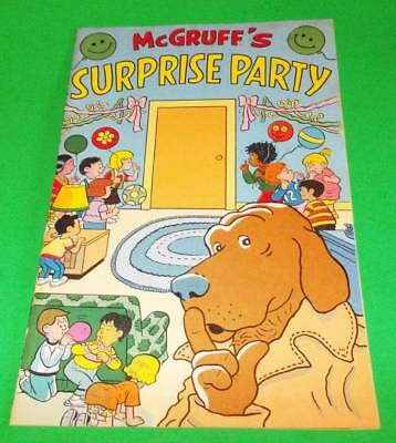McGruff's Surprise Party 1989  Kids Just Say No to Drugs Campaign Comic Book