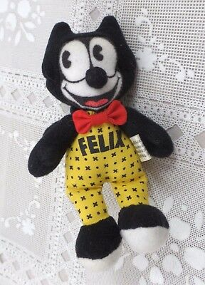 "Felix The Cat PLush doll Toy 5"" Tall"