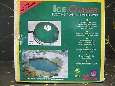 Ice Chaser Floating Pond De-Icer 1250 Watts