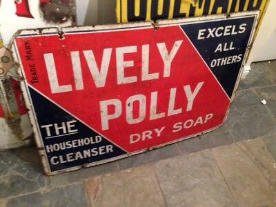enamel sign early soap advertising lively polly Preston Blackpool Road