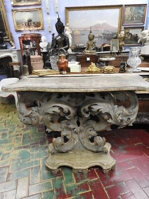 Wonderful Ancient Console Table French Of 700 Wood Paint And Lacquered Abrar