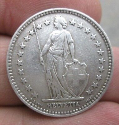 1940 Switzerland 2 Francs Silver Coin No Reserve