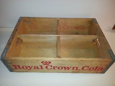 Vintage RC Royal Crown Cola Wooden Carrier Crate With Dividers