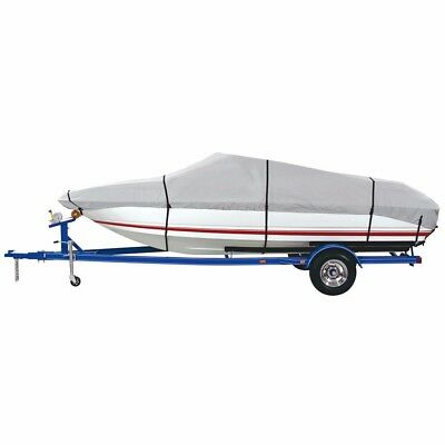 NEW Dallas Manufacturing Co. 600 Denier Grey Universal Boat Cover - Model C - Fi