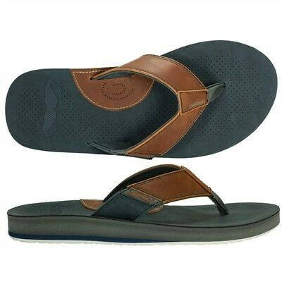afbaa175137400 COBIAN MOVEMBER MENS Synthetic Strap Flip-Flop Sandals Size10 Navy NEW -   29.25