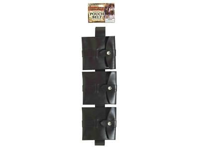 Steampunk Pouch Belt Brown Costume Accessory 3 pockets (496)