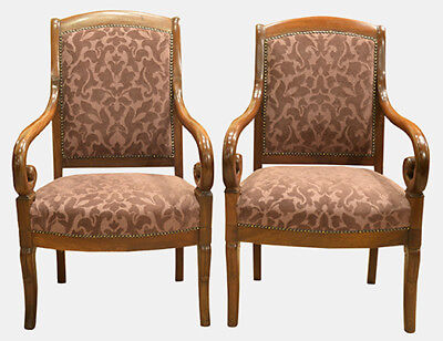 Pair of French Armchairs Louis Phillippe