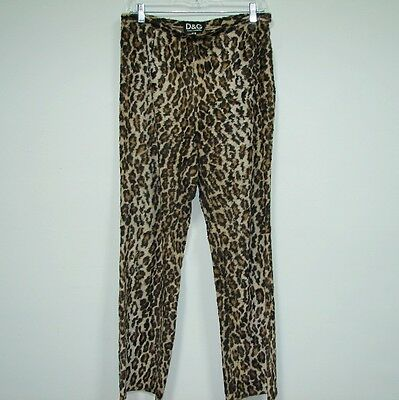 Authentic Vintage Dolce & Gabbana Women's Pants Cheetah Faux Fur Size 30 44 8