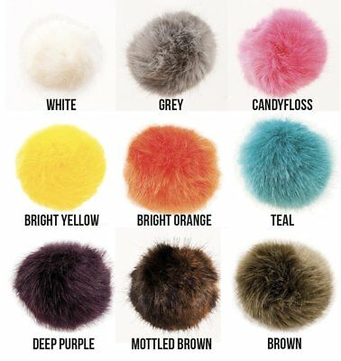 Extra Large Premium Faux Fur Pom Poms perfect for hats, key rings or decoration