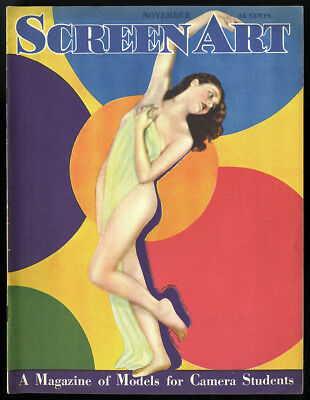 1929 Screen Art Magazine V1#1 Fine Art Deco Nude Photography Edwin Bower Hesser