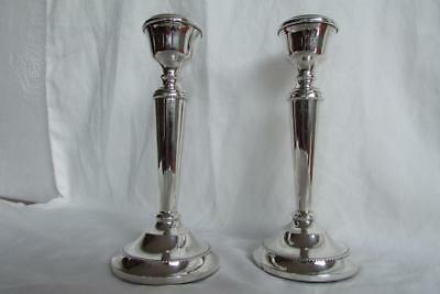 Pair Of Solid Silver Candlesticks By A.T.Cannon 1968