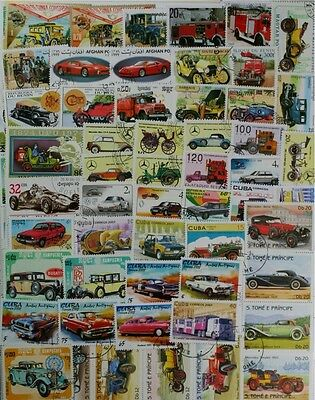 AUTOMOBILES, CARS, MOTOR VEHICLES 100 different lot of Worldwide stamps (lot#DP)