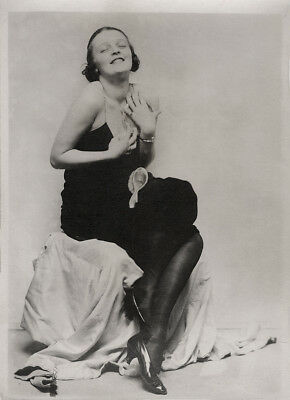C.1920s Risqué Blissful Jazz Baby Fashion Photograph Illustrator Charles Sheldon