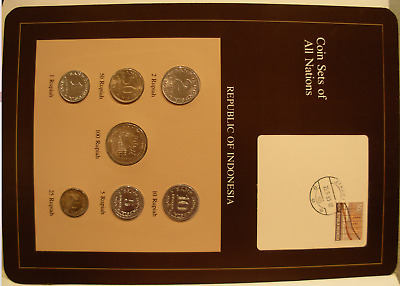 Republic of Indonesia - Coin Sets of All Nations 1970-1979 7 coin set UNC