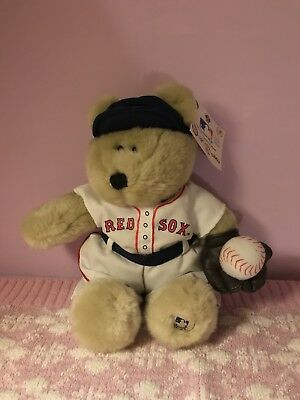 "Boston Red Sox Starbucks MLB Baseball Plush 10"" Bearista Bear NWT"