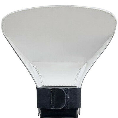 NEW Flash Reflector Diffuser For Universal Camera WHITE Photographer Photo Tools
