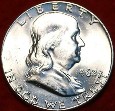 Uncirculated 1962 Philadelphia Mint Silver Franklin Half Free S/H