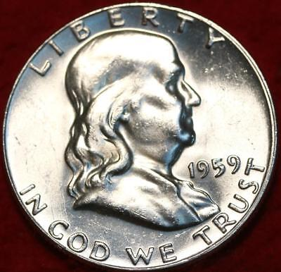 Uncirculated 1959 Philadelphia Mint Silver Franklin Half Free S/H