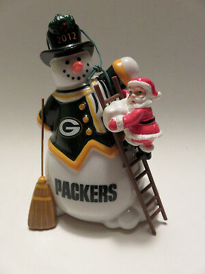 Green Bay Packers Danbury Mint 2012 Snowman Christmas Ornament in Org. Box