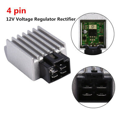 New Universal Motorcycle Motor bike 12V Voltage regulator rectifier 4 pin