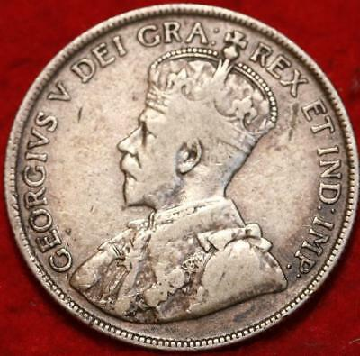 1918 Newfoundland 50 Cents Silver Foreign Coin Free S/H