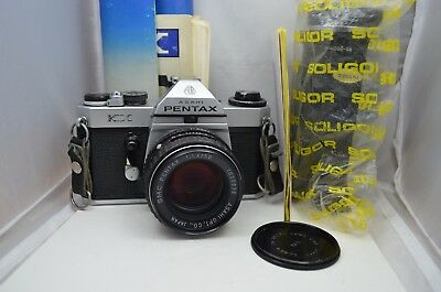Vintage Pentax KX 35mm SLR Film Camera Asahi SMC 50mm 1.4 Lens Soligor 80-200 ft