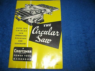Craftsman The Circular Saw Manual Book  Vintage 1950'S Sears Roebuck