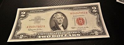 1963 Red Seal $2 Note Crisp Uncirculated