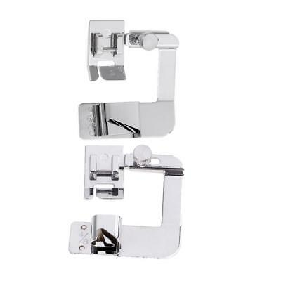 "2pcs Rolled Hem Foot Hemmer Foot 4/8"" 6/8"" Sewing Machine Parts Accessories"