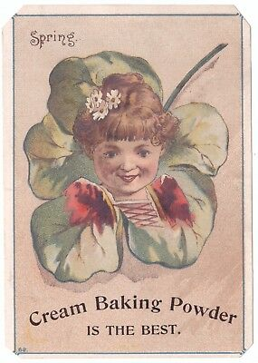 Cream baking Powder is the best Spring VTC Victorian Trade Card a