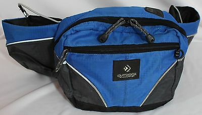 Outdoor Products,  Blue & Gray Waist Pack, Bottle Holders, Guc!!