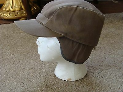 True Vintage Usa Size 7 1/4 Ear Flap Hat Cap Elmer Fudd Style Hunting Cap Unused