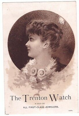 The Trenton watch NJ New Jersey VTC Victorian Trade Card a