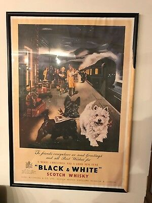 Vintage Black And White Scotch Whiskey Advertising Print