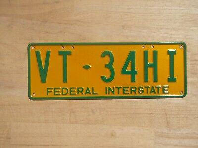 License plate Number plate VIC FEDERAL INTERSTATE TRAILER PLATE