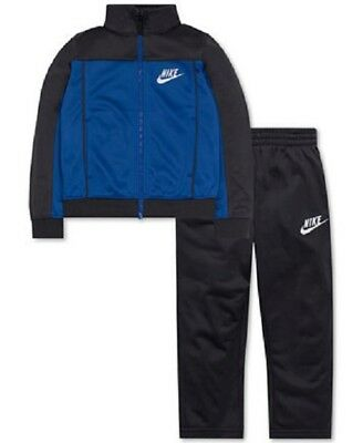 NWT Nike Little Boys' 2-Pc. Pacific Knit Track Suit Size 7 Blue/Dark gray