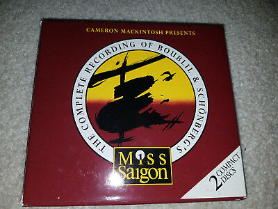 2 cd miss siagon boublil schonberg complete recording booklet box angel 1988