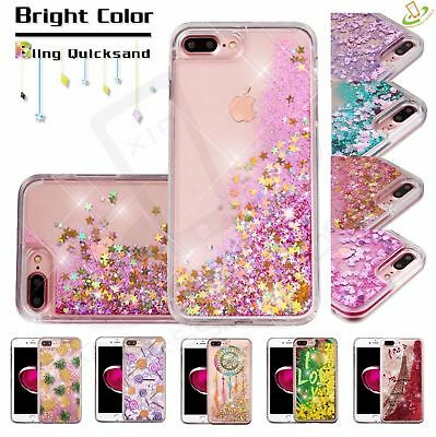 Apple iPhone X / 8 Plus Bling Hybrid Liquid Glitter Rubber Protective Case Cover