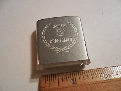 Vintage Zippo Magnifying Glass Cadillac Craftsman Auto Dealer