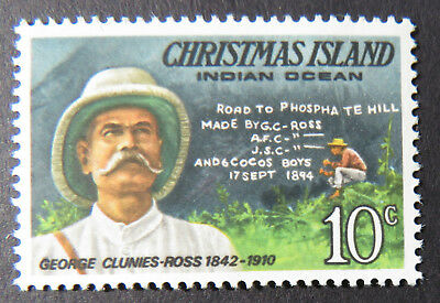 1978 Christmas Island Stamps - Famous Visitors Definitives - Single 10c MNH