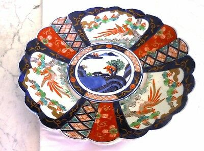 "Antique 1800s  Large 12"" Japanese Imari Charger Vibrant Colours"