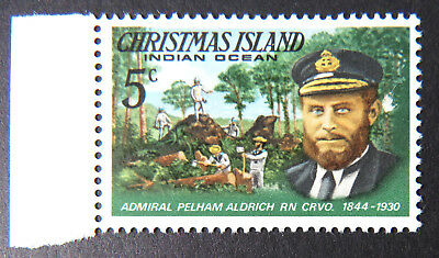 1978 Christmas Island Stamps - Famous Visitors Definitives - Single 5c-Tab MNH