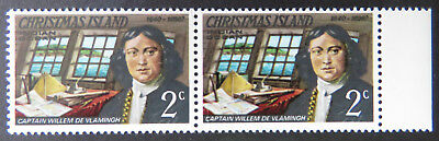 1978 Christmas Island Stamps - Famous Visitors Definitives - Double 2c - Tab MNH