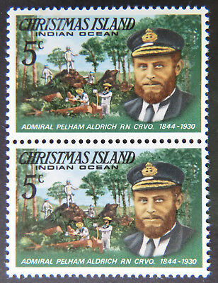 1978 Christmas Island Stamps - Famous Visitors Definitives - Double 5c MNH