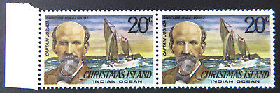 1978 Christmas Island Stamps - Famous Visitors Definitives - Double 20c-Tab MNH