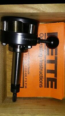 """FETTE CNC THREAD ROLLING HEAD #F-1 FOR M6 TO M10 OR 1/4"""" TO 3/8""""  or 7/16?"""