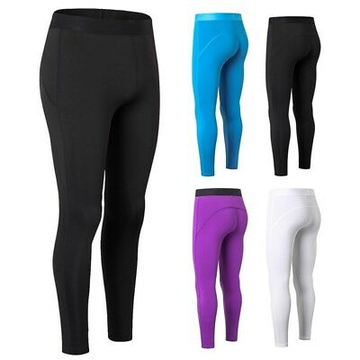AU Gym Womens Compression Fitness Tights Base Layer Stretch Sports Running Pants
