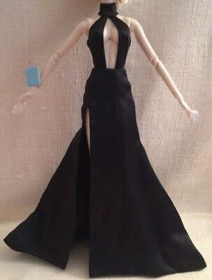 Black Satin Gown From Fashonably Ruthless Tatyana Fashion Fairytale Upgrade Doll