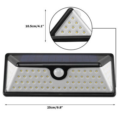 73 LED Solar Power PIR Motion Sensor Light Outdoor Garden Security Wall Light AU